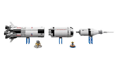 NASA Apollo Saturn V roket Lego seti