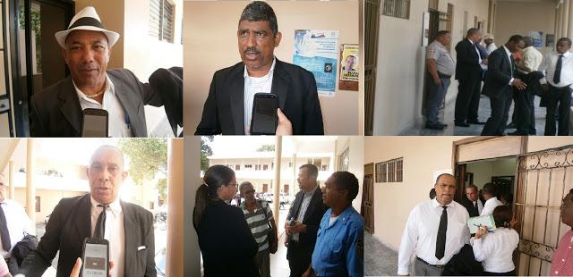 BARAHONA: Abogados protestan por medida que impide entrar y salir en el Palacio de Justicia