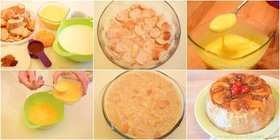Cómo preparar budín de pan duro y mandarina