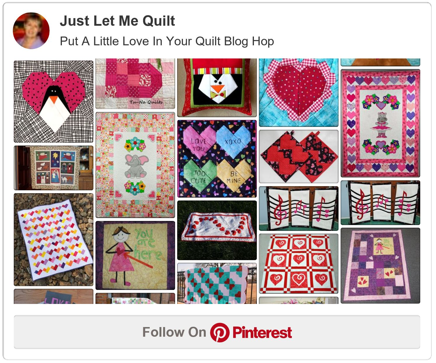 Pinterest - Put A Little Love In Your Quilt