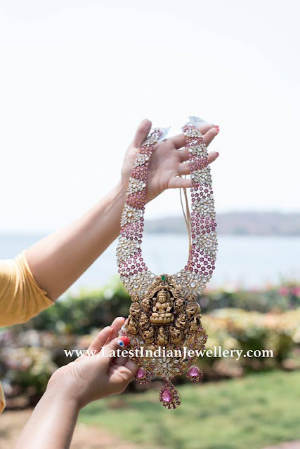 Corundum Gemstones Lakshmi Pendant
