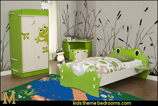 frog theme bedrooms - frog theme decor -Legare Frog Bed and Bookcase Set
