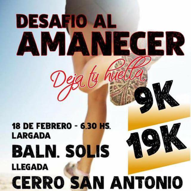 19k y 9k Desafío al amanecer en Piriápolis (Maldonado, 18/feb/2018)