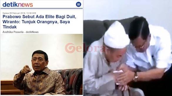 Setelah Luhut Kasih Amplop, Viral Video Wiranto Tantang Prabowo Tunjukan Elite bagi Duit