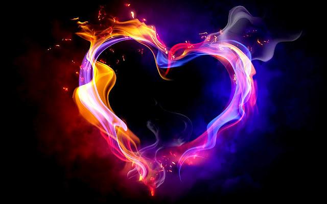 Liefdes harte van vuur