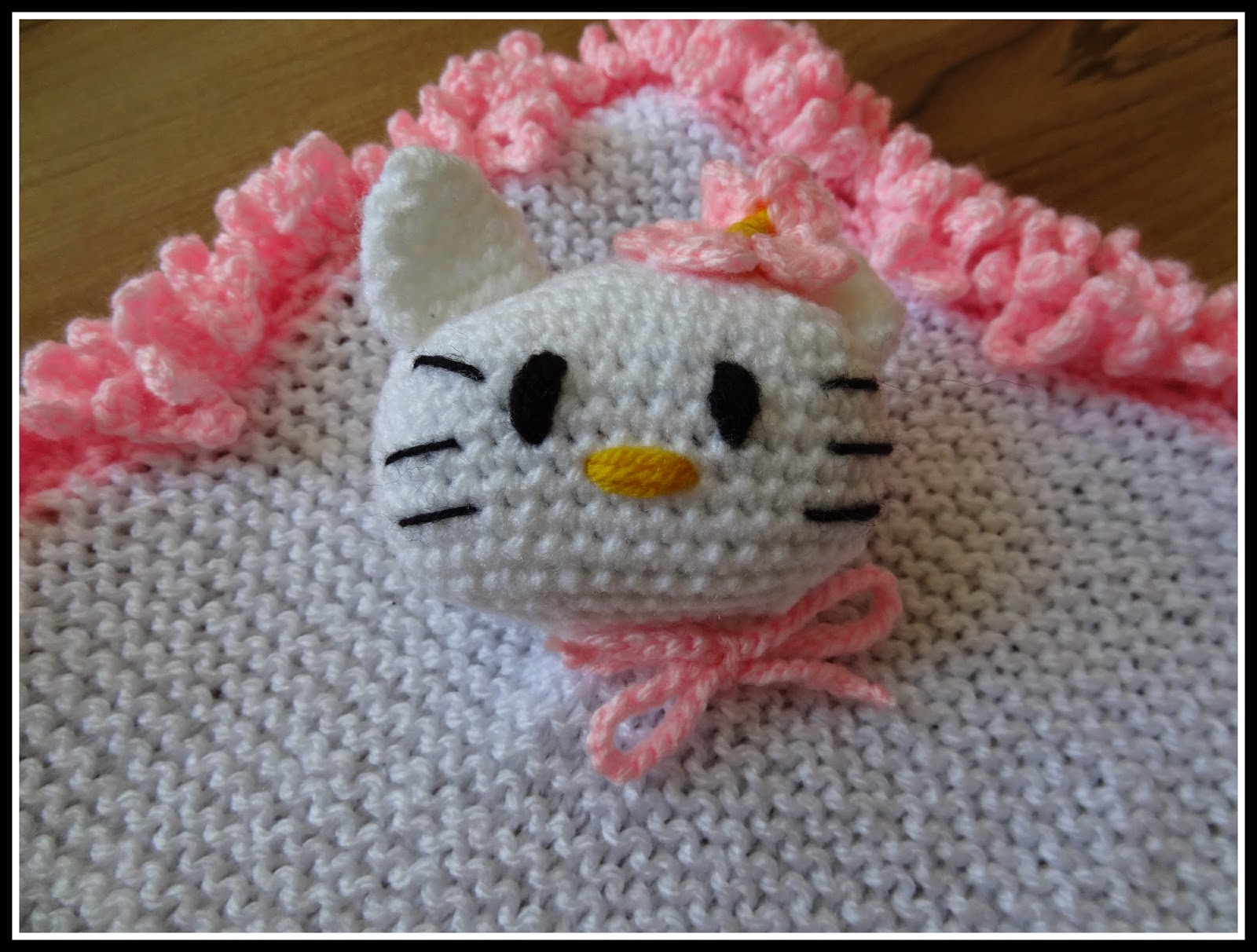 Fannysbuntewelt Häkelanleitung Kuscheltuch Kitty