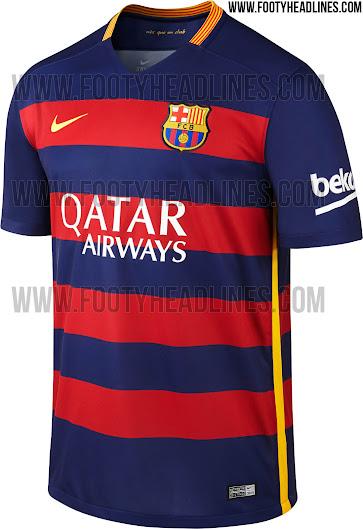 El FC Barcelona presentará mañana la camiseta 2015 16 con rayas ... 4c47cda75b0
