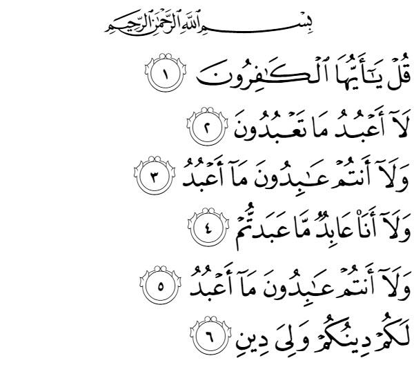 Isi Kandungan Surah Al Kafirun 109 Ayat 16