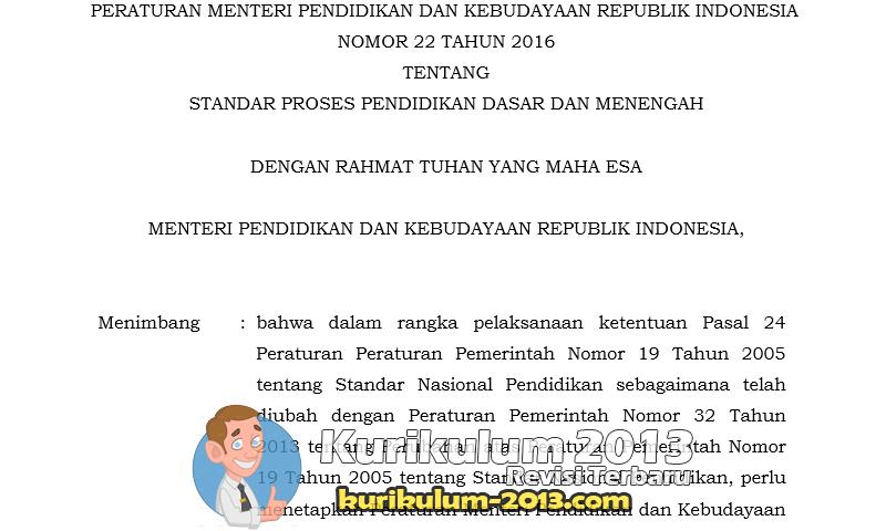 Download Contoh Format RPP Terbaru Kurikulum 2013 Sesuai Permendikbud No 22 Tahun 2016