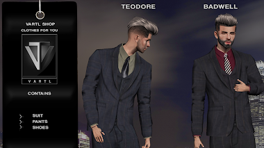 TEORORE AND BADWELL OUTFIT -- VARTL SHOP