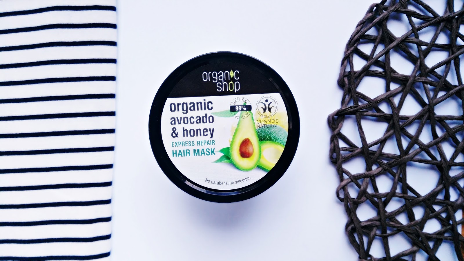 Organic Shop maska do włosów Avokado & Honey