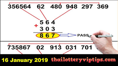 Thai lottery Direct 3up pair VIP free tips numbers 16 January 2019