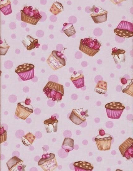 Papel con Cupcakes.