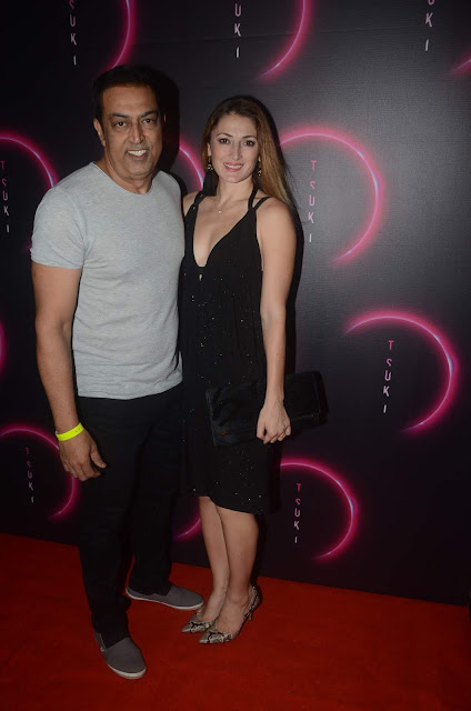 Vindu Dara Singh & his wife at the launch of Tsuki in Juhu