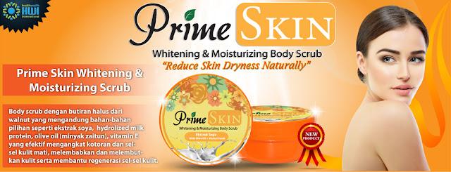 Prime Skin Whitening dan Moisturizing Body Scrub HWI