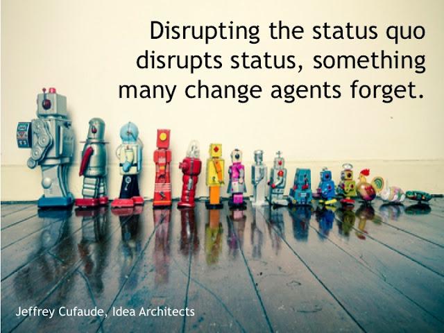 disrupting the status quo