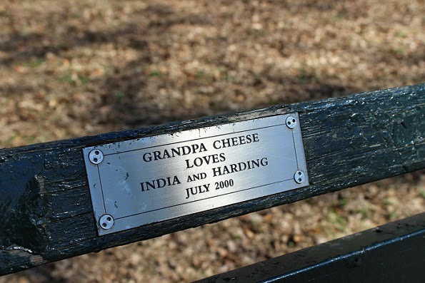 Sign on a bench in Central Park