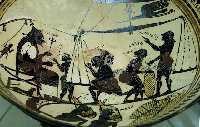 The Arkesilas Cup, ca. 565-560 BC, Vulci, Italy.