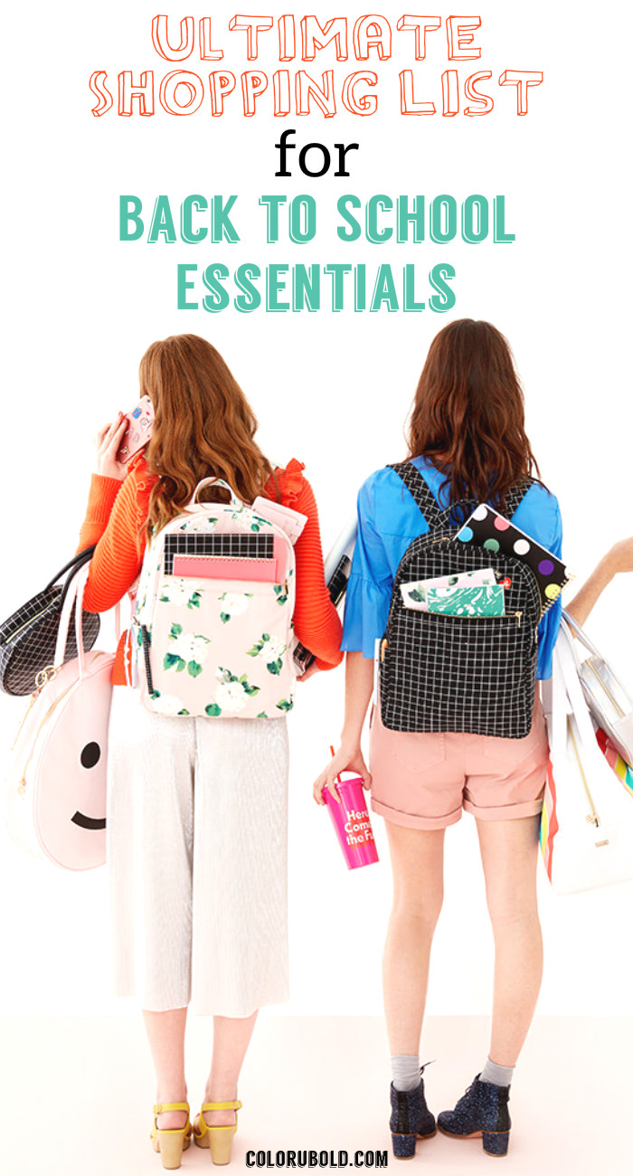 back to school essentials for kids and teen girls