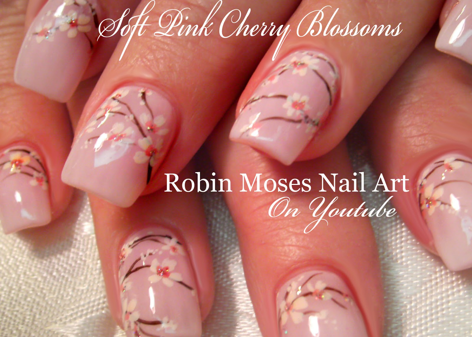 Nail Art by Robin Moses: Cherry Blossom Nail Art 2016 Full Length ...