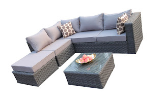 YAKOE Conservatory Modular 5 Seater Rattan Garden Corner Sofa Furniture Set – £364.7 (Interest free credit available)