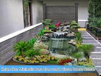 Kolam Ikan Minimalis Batu Alam untuk Hiasan Taman Rumah
