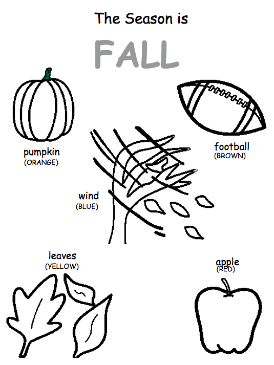 Autism Tank: Fall Coloring Page