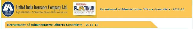 United India Insurance AO Recruitment 2013
