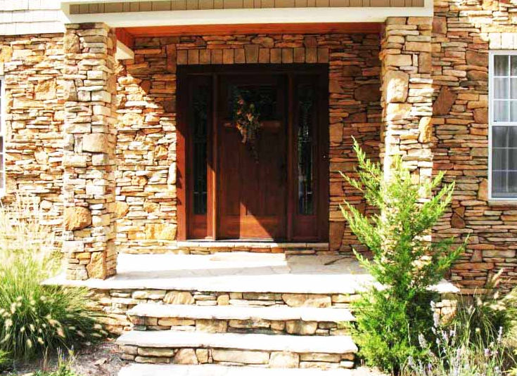 Tiang teras minimalis dengan batu alam terbaru modern