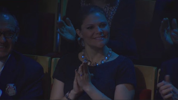 Crown Princess Victoria of Sweden and Prince Daniel attended the aid concert 'Playing for Life' for refugees in Europe in Berwaldhallen