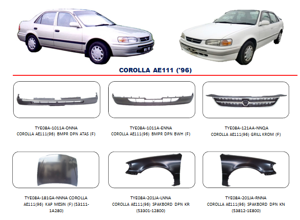 Bemper Corolla AE111 1996