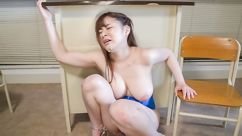 Satomi Nagase gets filled with warm Japan cum