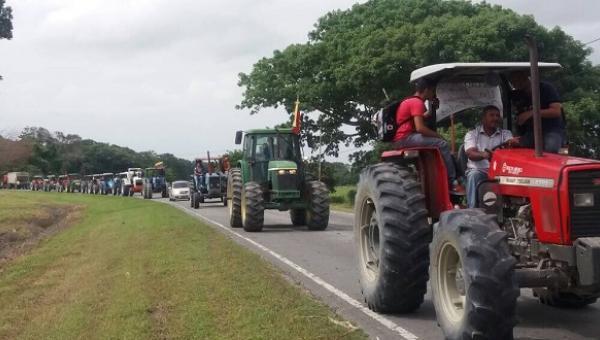 """Productores, agricultores y ganaderos realizaron el """"Mega Tractorazo"""" en Portuguesa"""