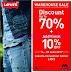 LEVIS Promo Diskon 70% Periode 14 - 18 Juni 2017 Warehouse Bazaar Sale