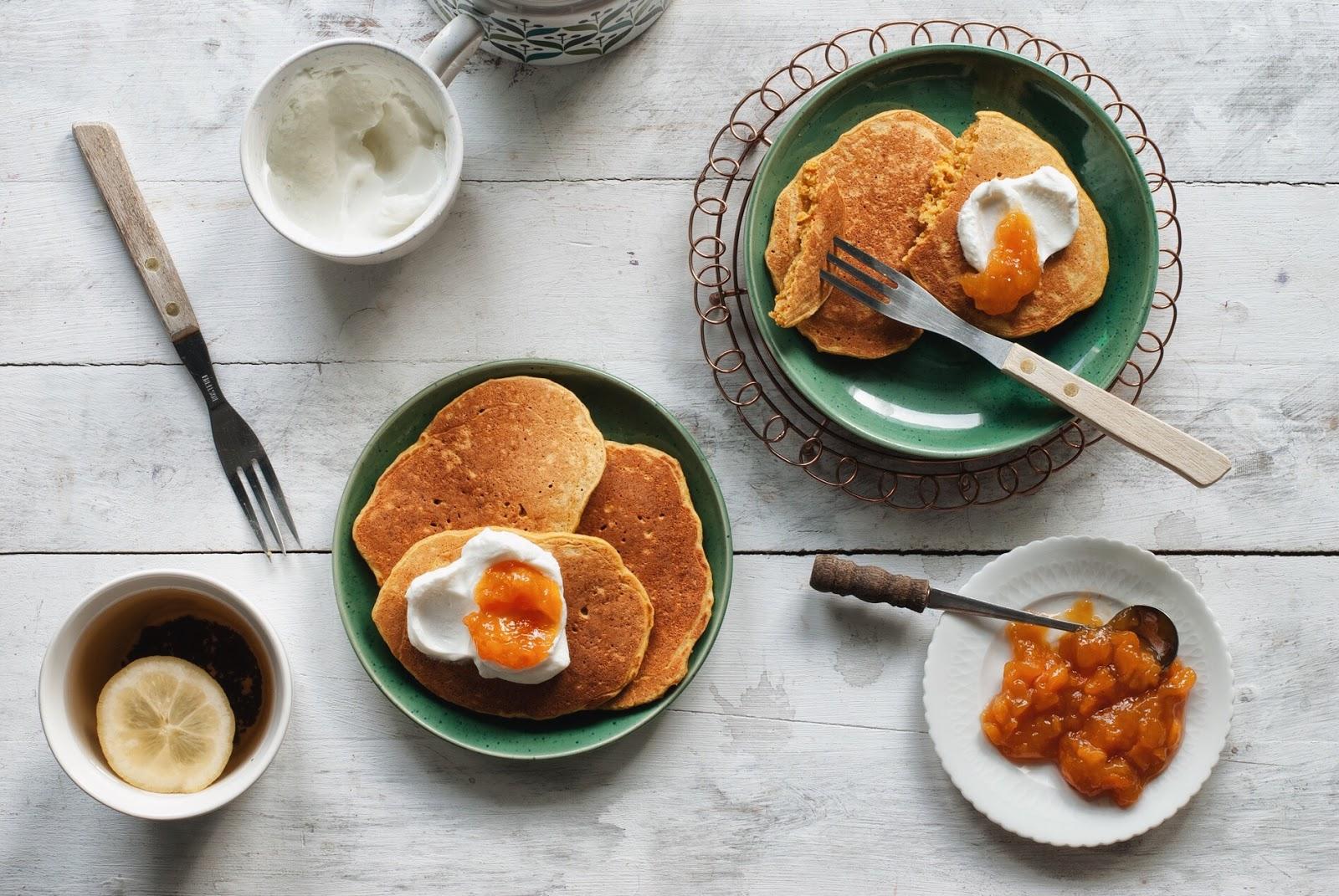 Marchewkowe pancakes placuszki bez glutenu
