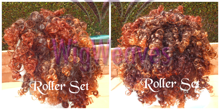 Curly Brazilian Hair Made Into a Fall or Half WIg