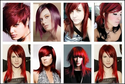 Hair Color Chart: Shades of Red Hair