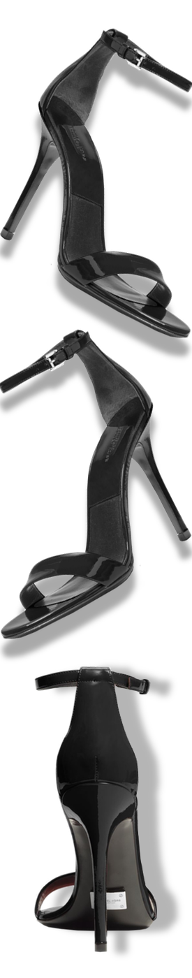 MICHAEL KORS COLLECTION Jacqueline Runway Patent-Leather Sandal