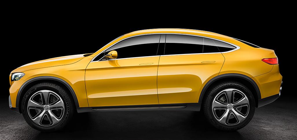 Profilo laterale Mercedes GLC Coupè