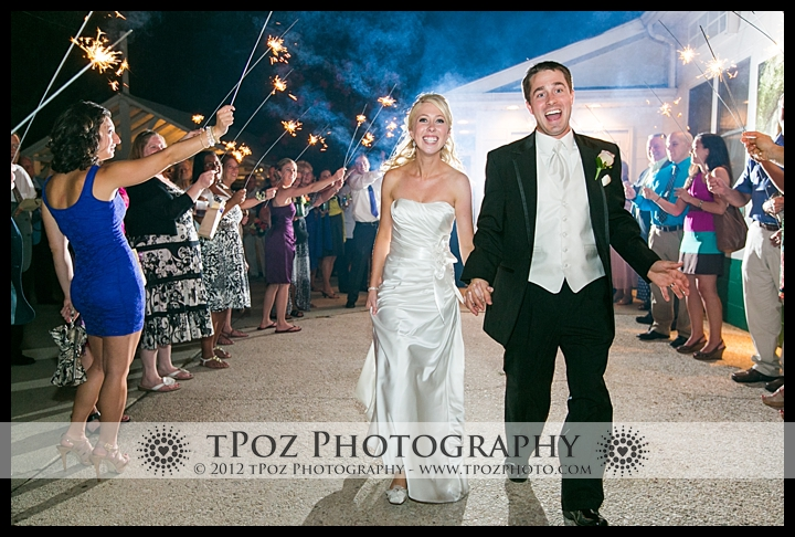 Sparkler Exit Kurtz's Beach Wedding