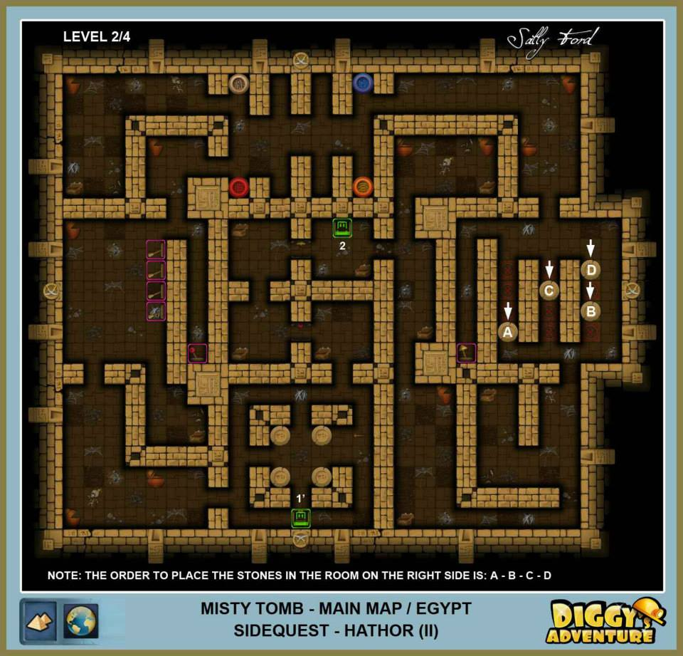 Diggy's Adventure Walkthrough: Egypt Main / Misty Tomb