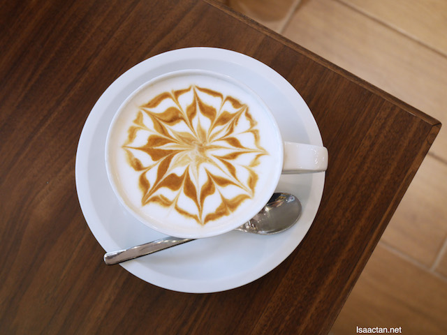 Beautiful latte to kick start our day