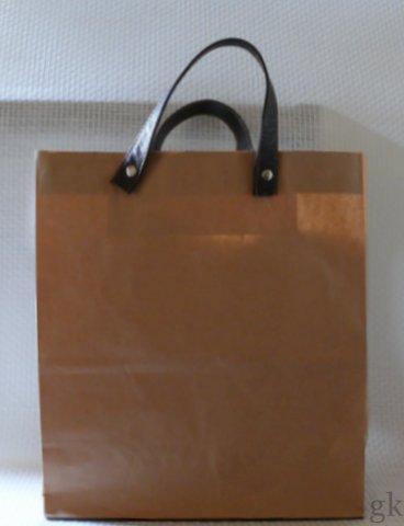 gk kreativ tasche aus papier und leder. Black Bedroom Furniture Sets. Home Design Ideas
