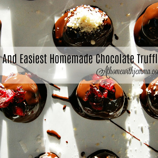 Homemade Dark Chocolate Truffles With Almond Butter