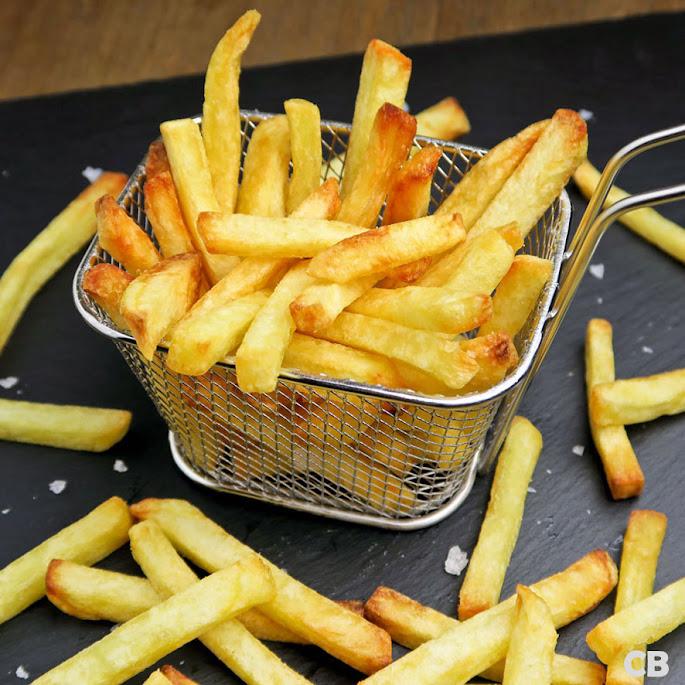 Krokante zelfgebakken frietjes