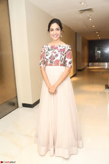 Ritu Varma smiling face Cream Anarkali dress at launch of OPPO New Selfie Camera F3 ~  Exclusive 050.JPG