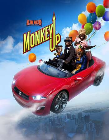Poster Of Monkey Up In Dual Audio Hindi English 300MB Compressed Small Size Pc Movie Free Download Only At worldfree4u.com