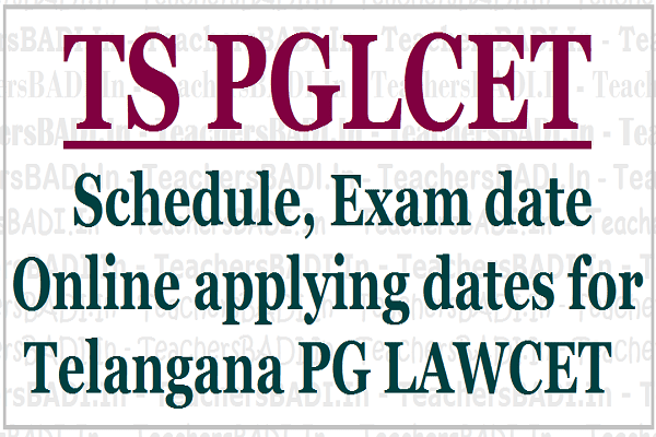 TS PGLCET 2017,Telangana PG LAWCET 2017,Apply Online at tslawcet.in