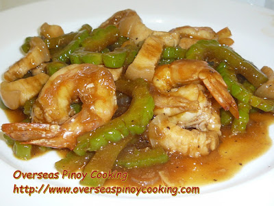 Prawn and Pork Ampalaya in Oysters Sauce Stirfry