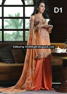 Mina Hasan Embroidered Fabrics Eid 2016 by Shariq Textiles